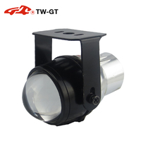TW-GT אוניברסלי רכב סטיילינג DIY 2.0 Inch hid דו קסנון ערפל מנורת עדשת מקרן foglight H11 לרכב אופנוע גבוה נמוך beam