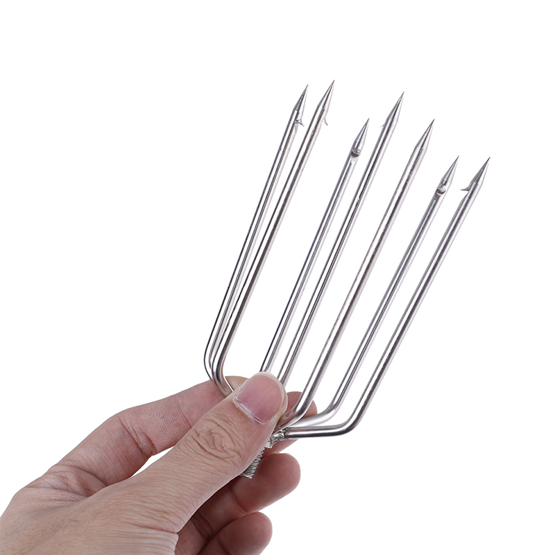 7/5 Prong Harpoon Fish Fork NEW 1Pcs Fishing Tools Stainless Steel Barbed Fishing Ice Breaker Hook Accessory Tackle 5 Sizes