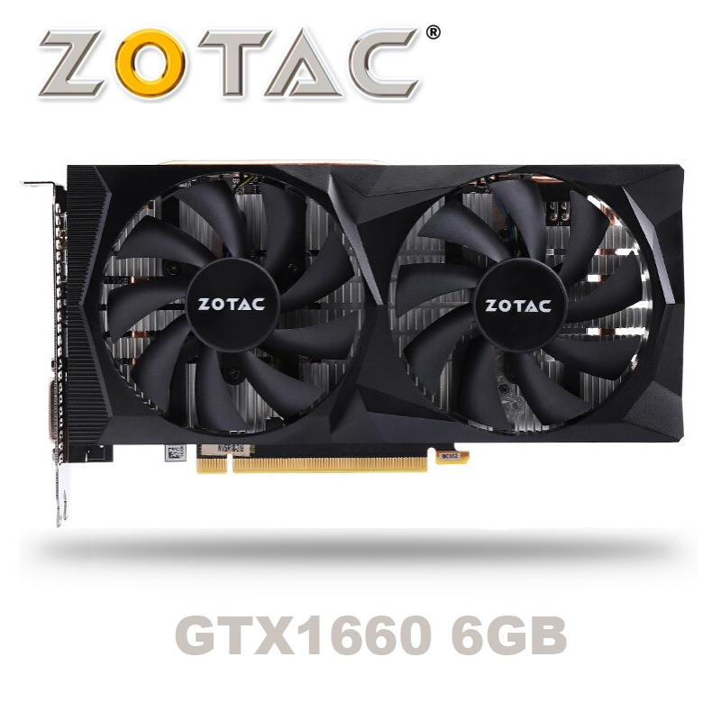 NEW ZOTAC GeForce GTX 1660 6G Graphic Card Nvidia GDDR5 GTX1660 6GB Video Card TU116 PCI-E3.0 HDMI Ports For Gaming PC