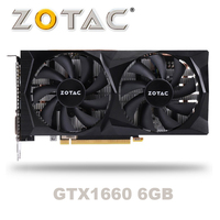 NEW ZOTAC GeForce GTX 1660 6G Graphic Card Nvidia GDDR5 GTX1660 6GB Video Card TU116 PCI E3.0 HDMI Ports For Gaming PC