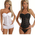 CHANGLA Black White Corpete Corselet Gothic Corsage Sleepwear Lingerie Sexy Corpetes Espartilhos Waist Corsets And Bustiers