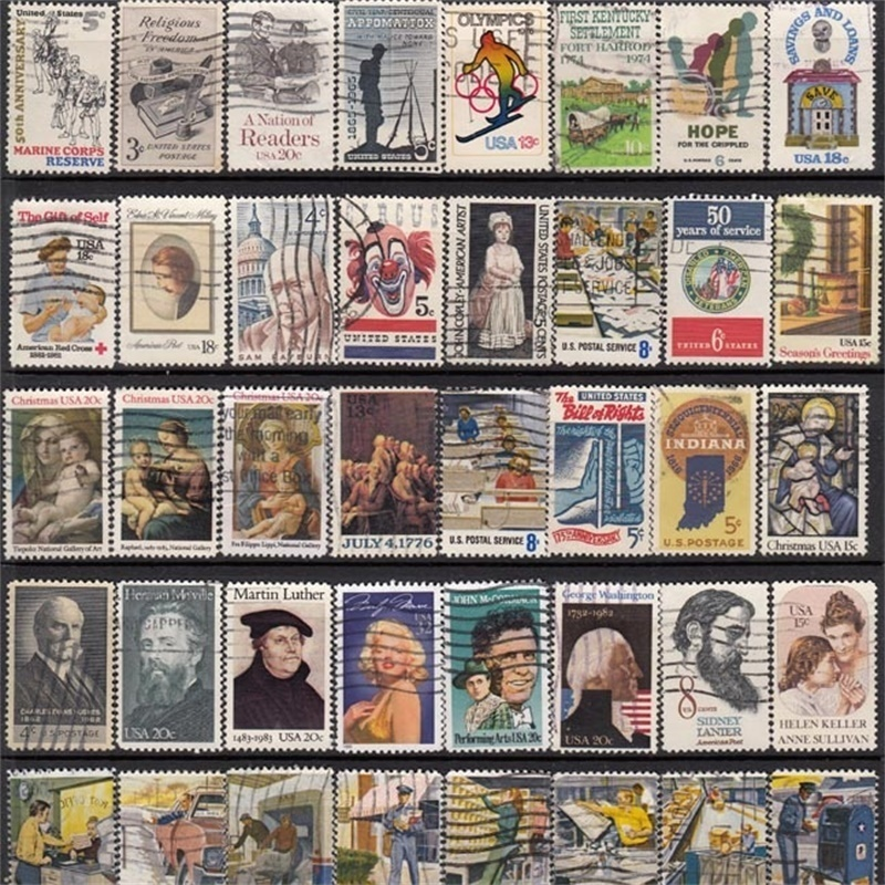 50000 Pcs Global No Repeat Postage Stamp Collections From