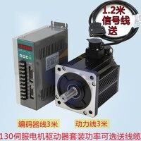 2.3KW 15nm AC servo motor 1500rpm 130ST M15015 can replace Huada Delta Servo Drive Set