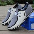 Más el tamaño 39-46 Hombres Zapatos de Moda Primavera Verano Soft Comfort Los Hombres de cuero Ocasionales Zapatos Del Barco Planos Respirables Mens de Conducción zapatos