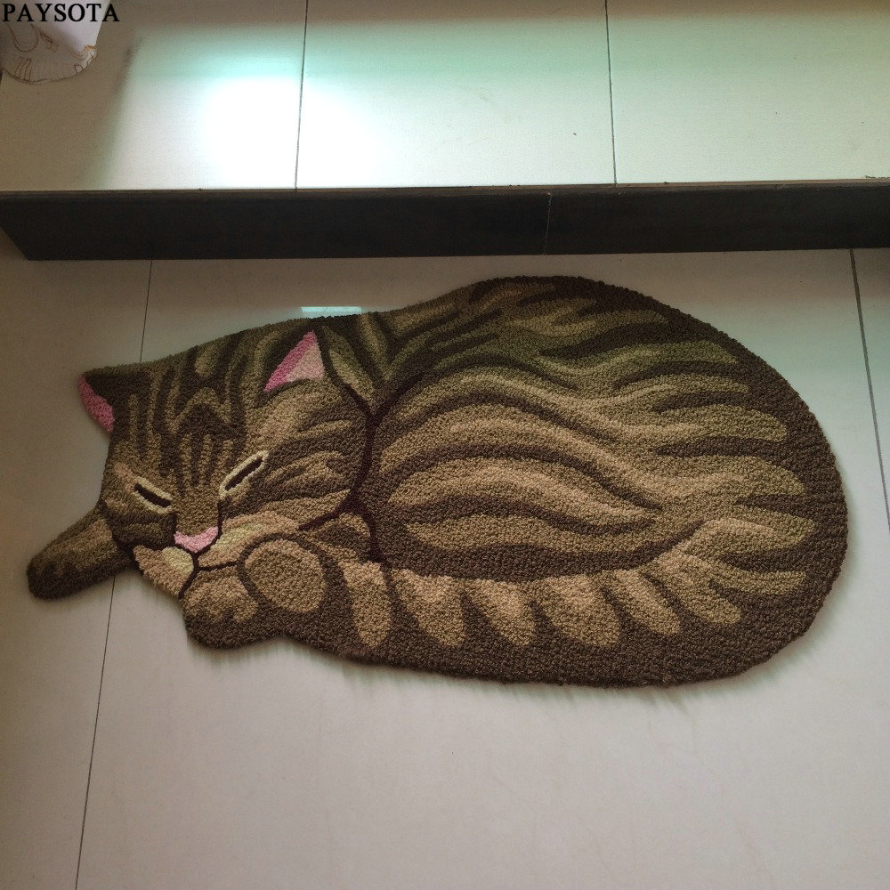 PAYSOTA Cute Sleeping Cat Carpet Children Bedroom Rug Stairs Mat in Carpet from Home Garden