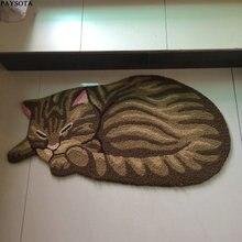 Paysota lindo gato durmiendo escaleras carpet niños dormitorio alfombra estera