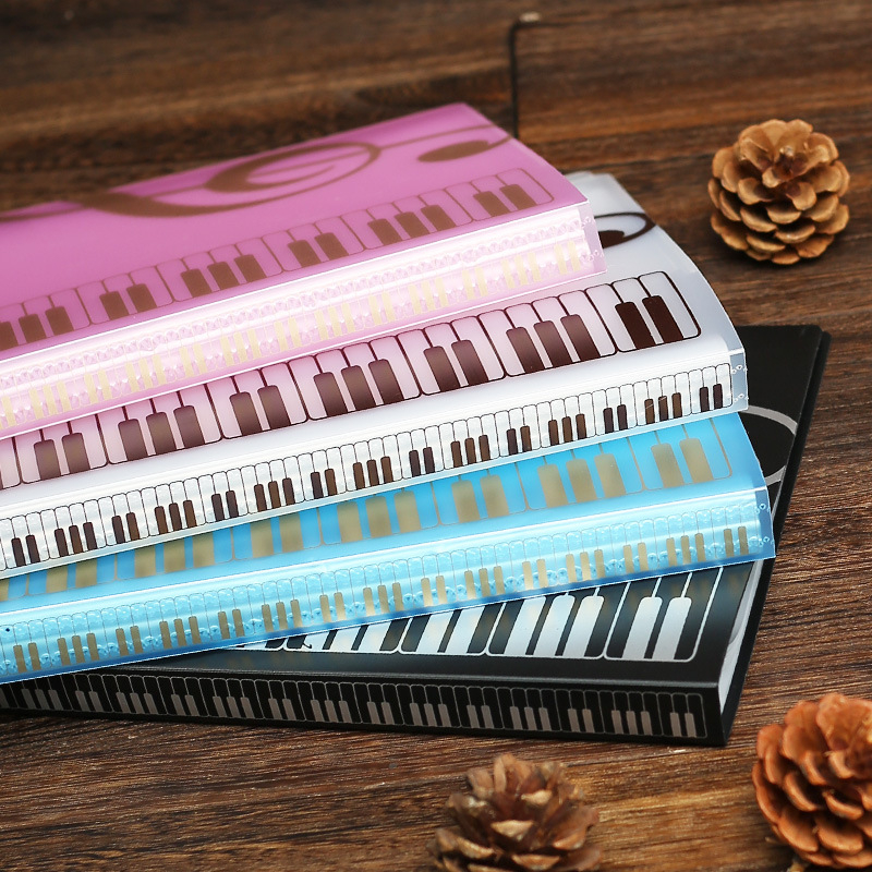 US $9 09 30% OFF|80 Sheets A4 Music Book Folders Piano Score Band Choral  Insert type Folder Multifunction File Storage Products Music Supplies-in  File