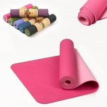 6 мм TPE нескользящий Эластичный Коврик для йоги для начинающих экологический коврик для фитнеса пилатеса ламинированный многоцветный коврик для тренажерного зала