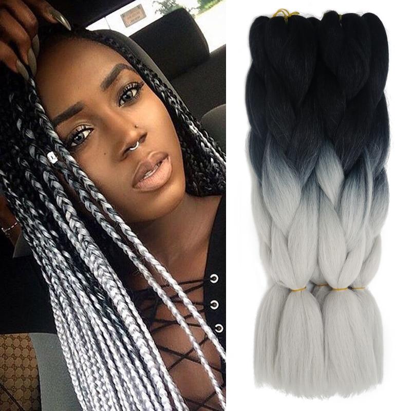 Ombre Xpression Kanekalon Braiding Hair Expression Gray ...