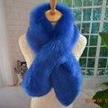 Новое поступление искусственного рекс кролика шарф теплый роскошный искусственный фокс мех пересечь шарф длинный пушистый искусственного меха воротник customerized DIY