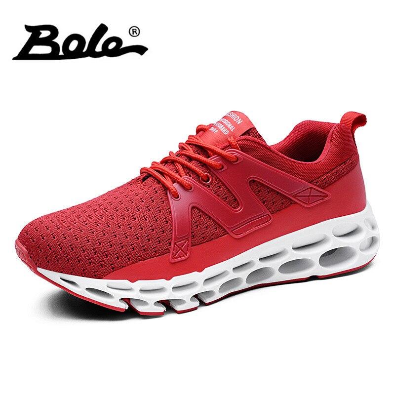 aa1030010ca49e BOLE Taille 39 46 Mode Mesh Respirant Hommes de Causalité Chaussures  Nouveau Design Lace Up Confortable Hommes Chaussures Loisirs Sneakers chaussures  Hommes ...