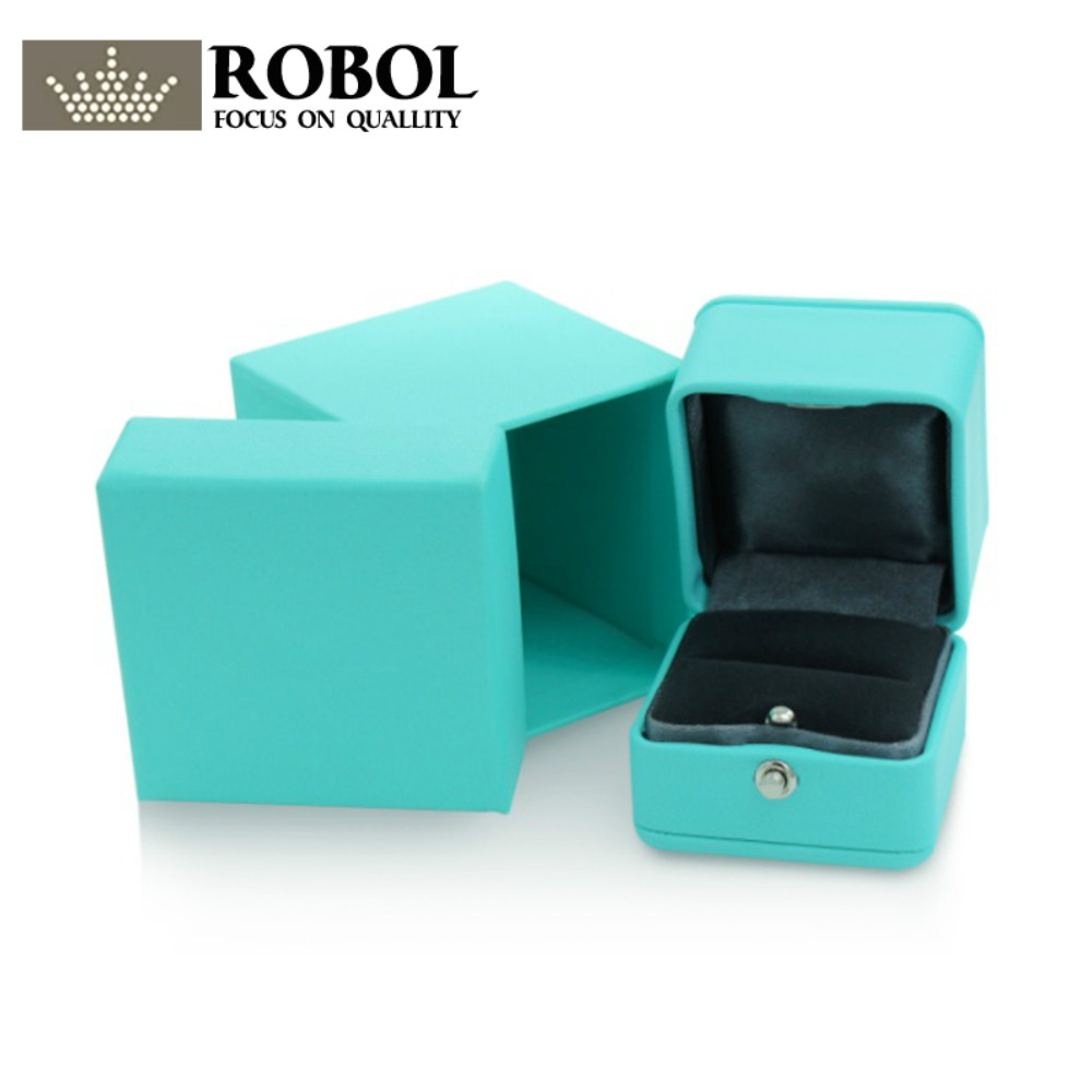 ROBOL Glamour Original TIFF Classic Jewelry Beautiful Protective Box High-End Ring Box Suitable For Valentines Day Wedding GiftROBOL Glamour Original TIFF Classic Jewelry Beautiful Protective Box High-End Ring Box Suitable For Valentines Day Wedding Gift