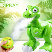 Remote Control Dinosaur Spraying Water RC Interative Walking Pet Light Up Eyes Dragon Dinosaur Robot with Humidifier Function(China)
