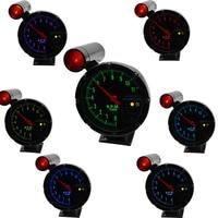 5 Inch Auto Car Tachometer RPM Gauge Warning light background 7 color backlight rpm