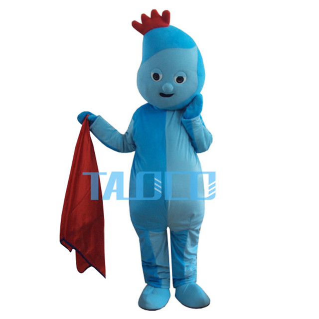 Iggle Piggle Mascot Costume In The Night Garden Cosplay Fancy Dress