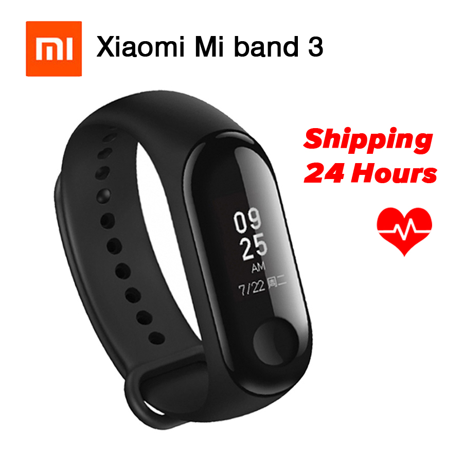 Xiaomi Miband 3 Mi Band 3 Bracelet 0.78'' OLED Display Touchpad Bluetooth 4.2 Fitness Tracker Heart Rate Monitor For Android IOS in stock original xiaomi mi band 3 miband 3 smartband oled display touchpad heart rate monitor wristbands bracelet xiaomi mi 8