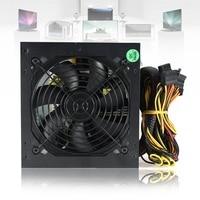 600W PC PSU Power Supply Black Gaming Quiet 120mm Fan Blue LED 20 24pin 12V ATX