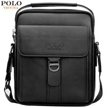 VICUNA POLO New Arrival Magnetic Buckle Open Mens Business Messenger Bag Large Capacity Soft Leather Travel Man Shoulder