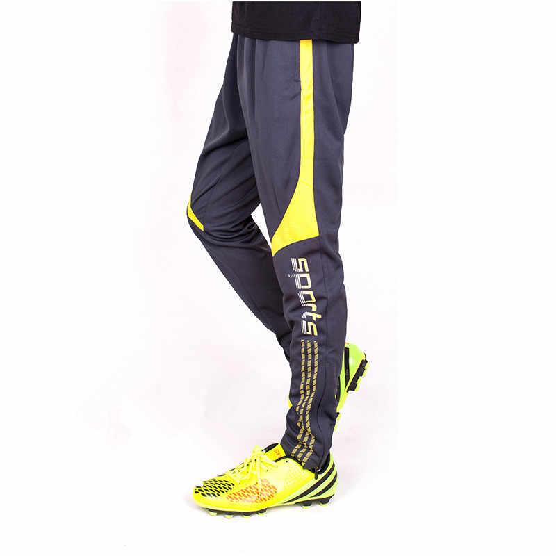 Lidong Sepak Bola Sepak Bola Pelatihan Celana Pria dengan Saku Ritsleting Joging Kebugaran Latihan Olahraga Lari Celana Sepak Bola