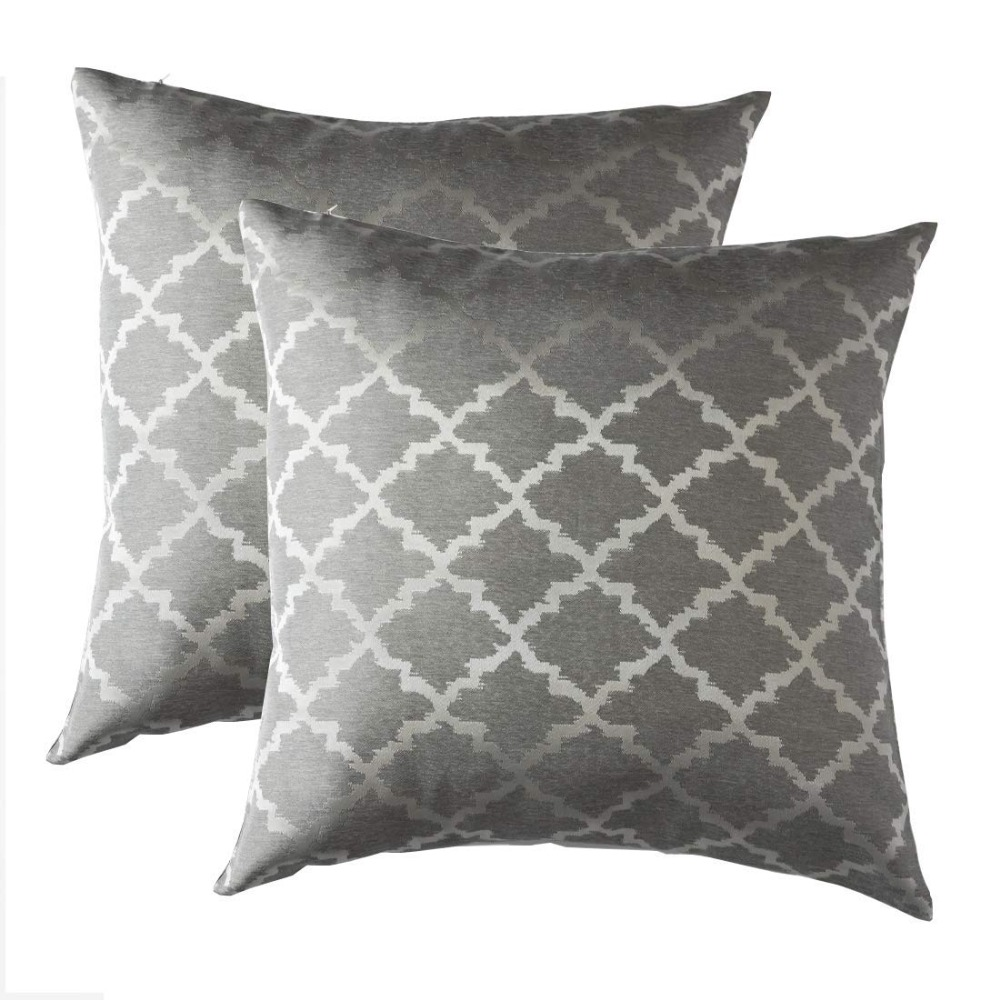2 Pack Jacquard Cushions Covers Home Decorative Throw <font><b>Pillows</b></font> Covers For Sofa Bedroom House GIGIZAZA Cushion <font><b>Cases</b></font> 45x45 <font><b>50x50</b></font> image