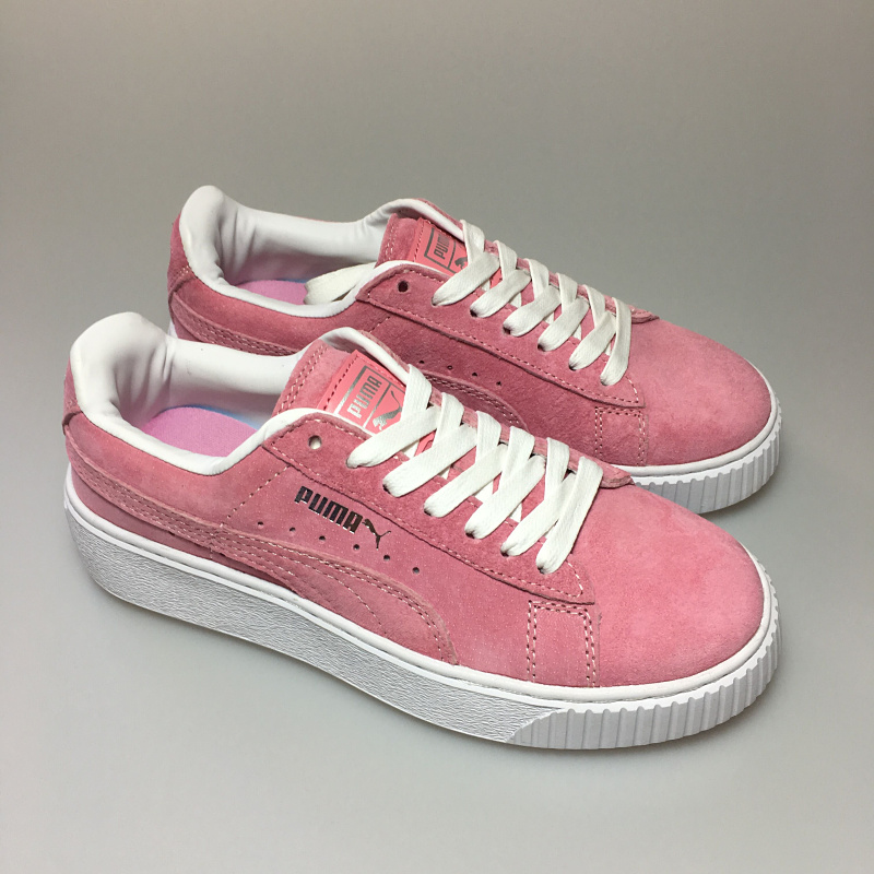abe7ece23427 2018Original PUMA FENTY Suede Cleated Creeper Women s First Generation  Rihanna Classic Basket Suede Tone Simple Badminton Shoes