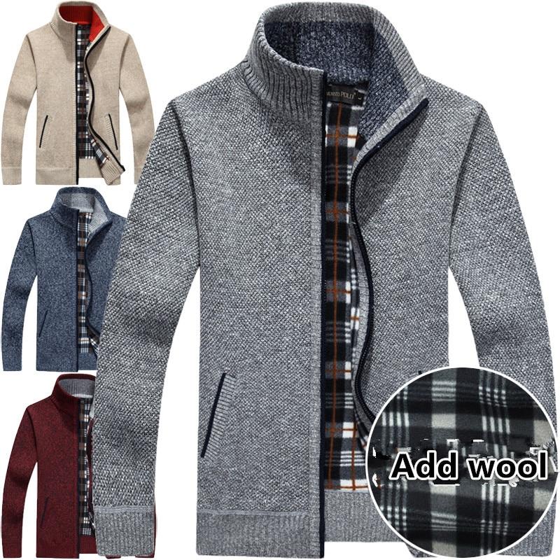 Patchwork Sweaters Casual Knitwear Sweater 2017 Cardigan For Male Clothing 50% Off Men's Cardigan Knitwear Add Wool Overcoat