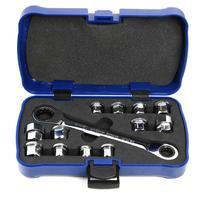 13pcs E6 E24 Socket Wrench Set CR V Drive Ratchet Wrench Spanner Car Repair Tool