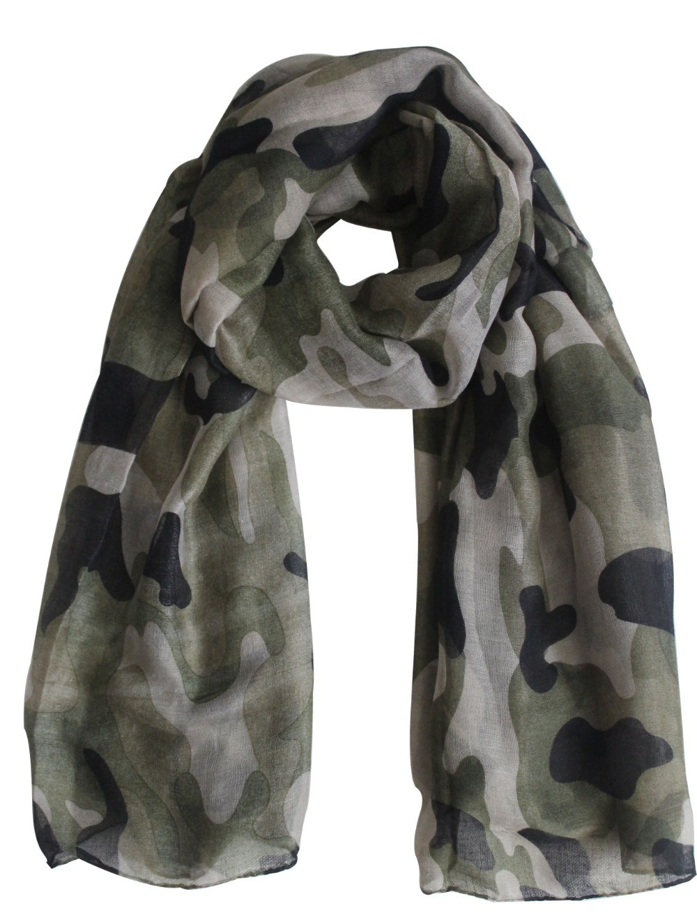 2018 New Fashionable Women Army Green Camouflage Scarfs Camo Shawls For Women Ladies