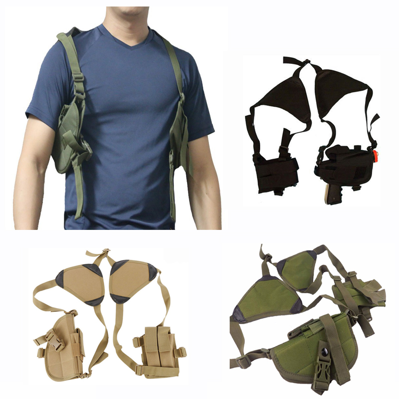 2019 Tactical Police Security Nylon Gun Holster Universal Pistol Gun Carry Pouch Concealed Shoulder Holster For Glock Beretta