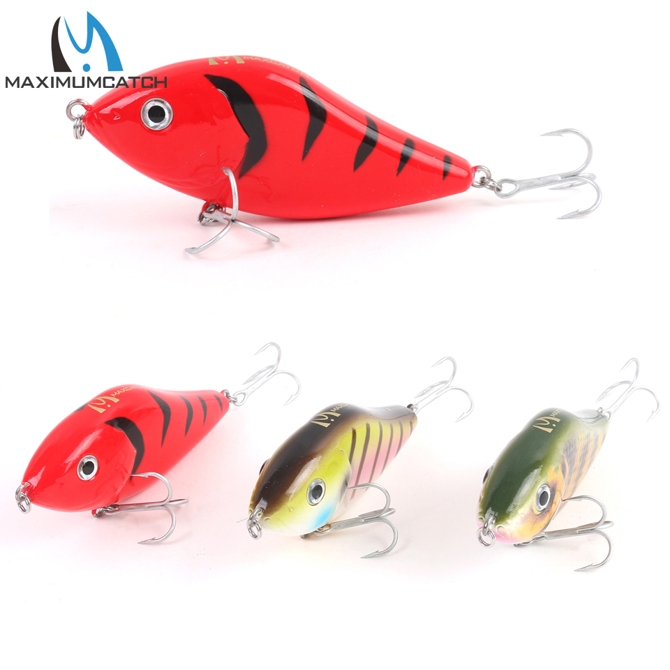 Maximumcatch fishing lure 3 colors 47g 100mm jerkbait pike for Pike fishing lures