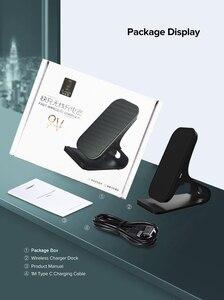 Image 5 - Lantro js ワイヤレスチャージャーチークイック電話充電器デスクスタンドなしの usb ケーブルに 1 メートルとタイプ c ac アダプタ