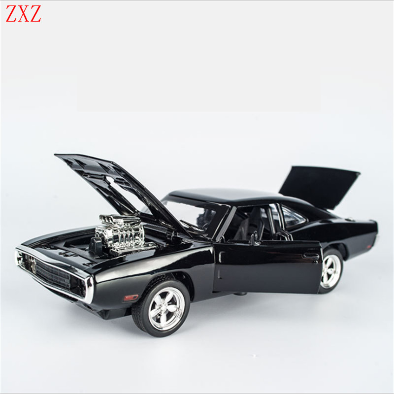 fast and furious dodge alloy diecast robot classical model pull back toy metal cars electronic charger with lightsound kids toy
