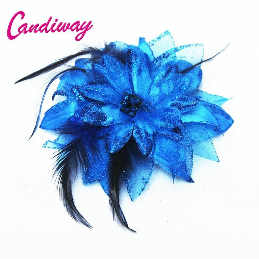 2017 New Arrival Dark Blue Hair Ornaments Headwear Flower Women Fashion Hairpins Hair Clip For Girls Hair Headdress Accessories