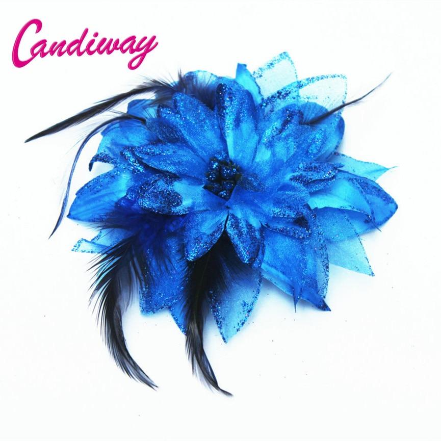 New Arrival Dark Blue Hair Ornaments Headwear Flower Women Fashion Hairpins Hair Clip For Girls Hair Headdress Accessories
