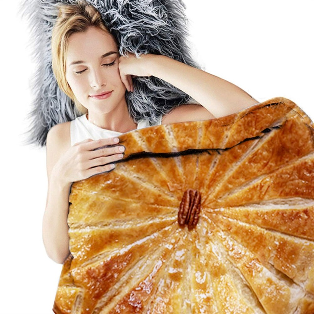 Comfort Food Creations Burrito Wrap Blanket Perfectly Round Tortilla Throw Bathroom Carpet Mexican Home Textile Polyester