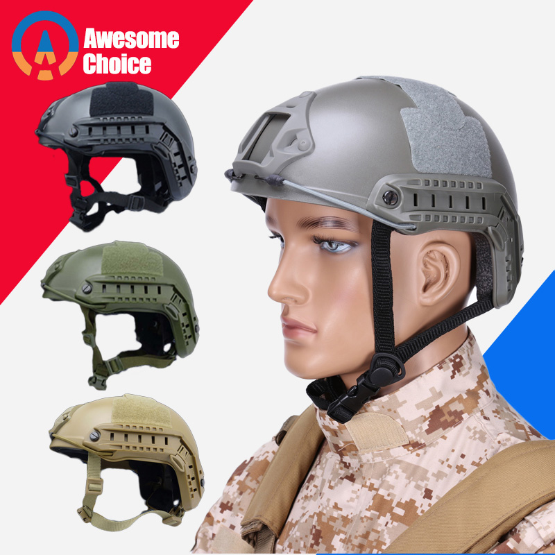 Army Military Tactical Helmet Fast Cover Casco Airsoft Helmet Sports Accessories Paintball Gear Jumping Protective Face Mask