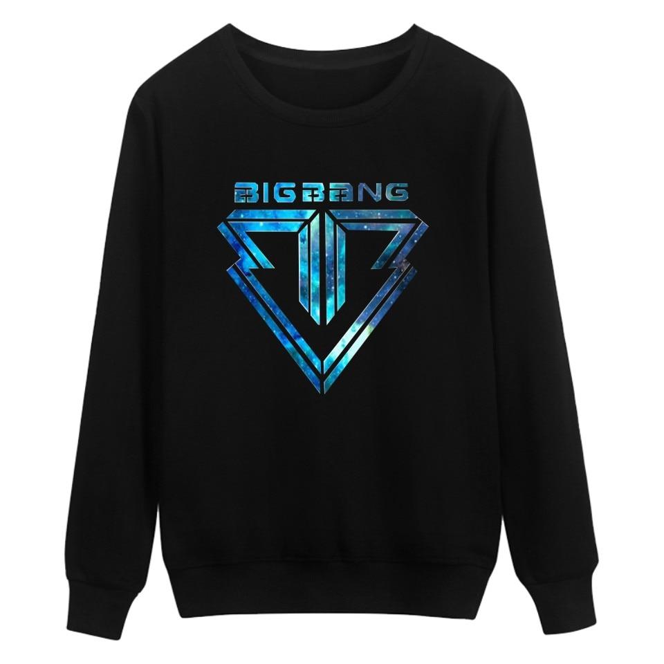 Fashion design Cotton Bigbang Warm Sweatshirt Mens Hoodie And Plus Size Pullover Women Clothes Bigbang GD Hoodies Men Streetwear