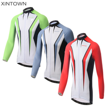 XINTOWN Men Cycling Jersey Team Wear Long Sleeve Outdoor Clothing Tops For Spring/Autumn