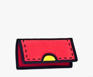 2D Standard Wallets!Nice Colorful 3D Canvas Lady Wallet Vintage Hasp Long Wallets High-Quality Comic Book Bag