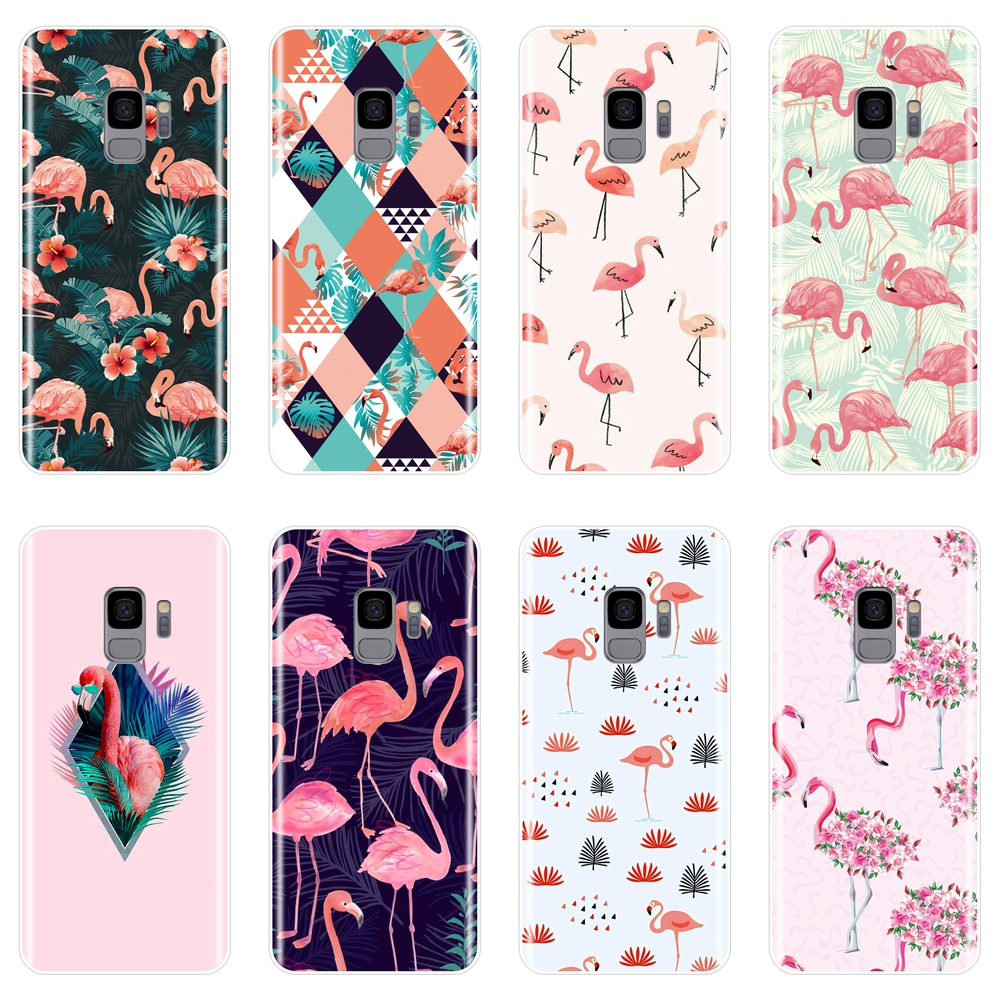 Fashion Flamingo Phone Case For Samsung Note 9 8 5 4 Silicone Soft Back Cover For Samsung Galaxy S5 S6 S7 Edge S8 S9 Plus Case