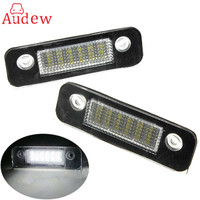 2PCS Pair 12V 18 LED SMD License Plate Light Number Plate Lamps Light For Ford Mondeo