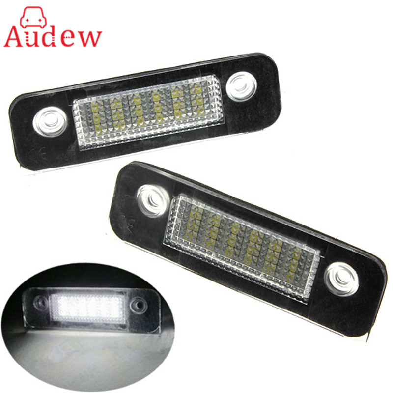 2PCS/Pair 12V 18 LED SMD License Plate Light Number Plate Lamps Light For Ford/Mondeo/MK2 White 2pcs car led license number plate light lamp 6w 12v 24 led white light for ford focus 2 c max