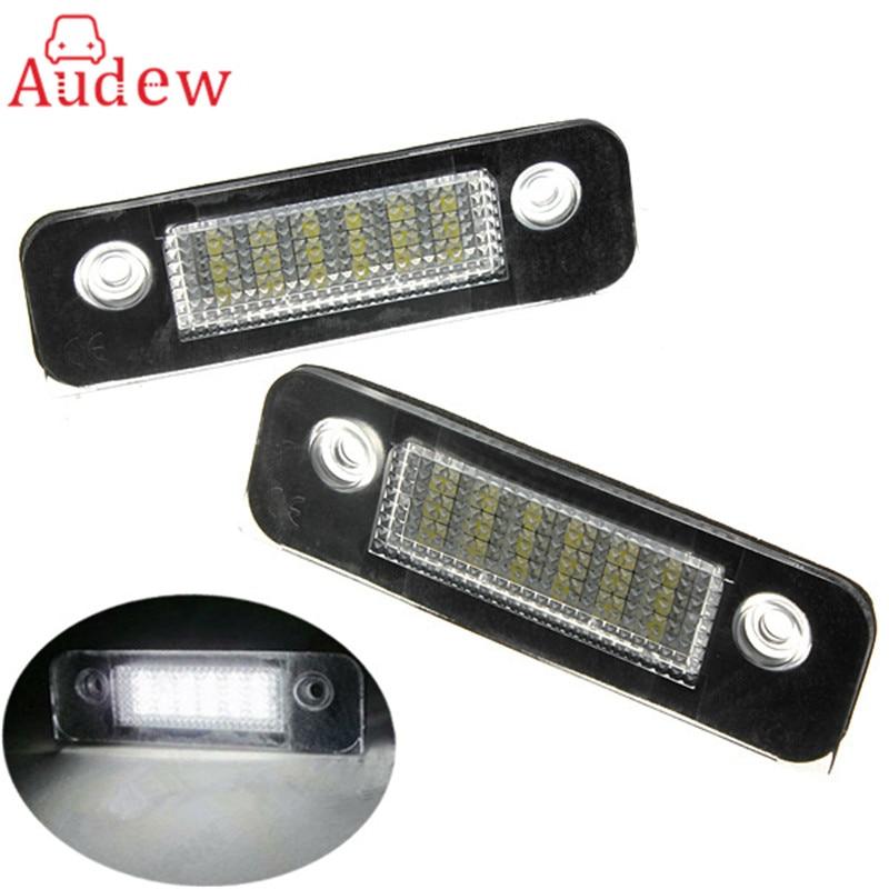 2PCS/Pair 12V 18 LED SMD License Plate Light Number Plate Lamps Light For Ford/Mondeo/MK2 White