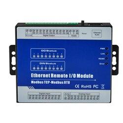 8 изолированных аналоговых входов модуль поддерживает 0 ~ 20mA 4 ~ 20mA 0-5VDC 0-10VDC Modbus TCP Ethernet удаленный IO модуль M330T