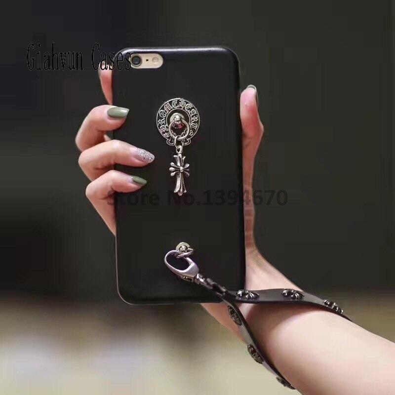 Ретро крест кожаный браслет Мягкие TPU Тонкий силиконовый чехол для телефона для Samsung Galaxy S7/G9300 назад чехол для телефона