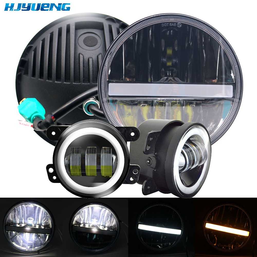 "36w for Jeep Wrangler LJ JK TJ New 7"" LED Headlight with"