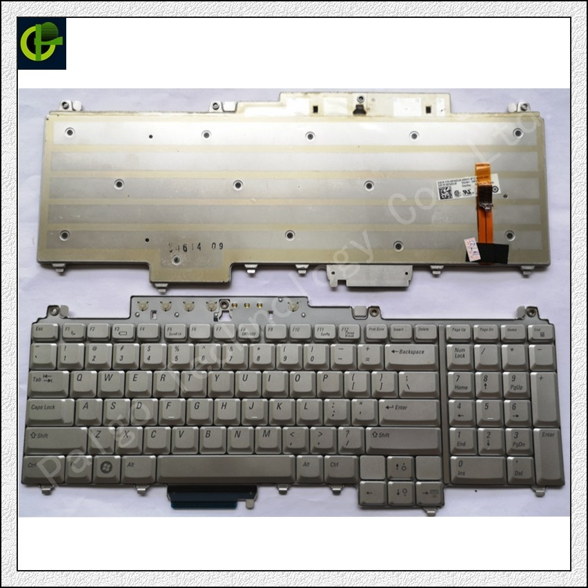 Keyboard Backlit for Dell Inspiron 1720 1721 XPS M1720 M1721 M1730 Vostro 1700 silver laptop US English standard new for dell 1720 1721 vostro 1700 german gr laptop keyboard black nsk d820g 0kt273