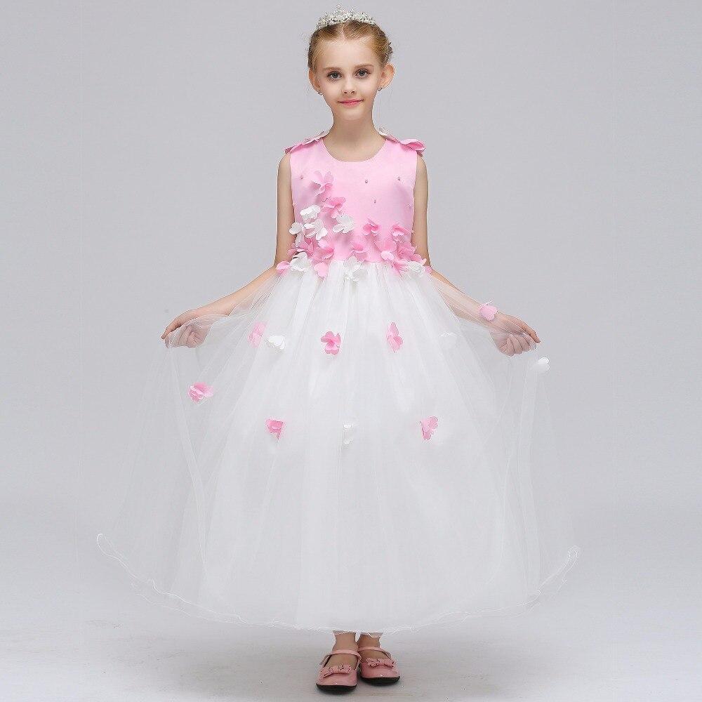 Lace Flower Girl Dresses White Little Girls Pageant Dresses Kids