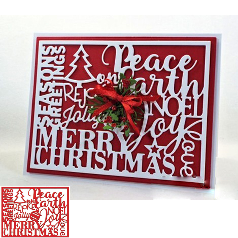 Peace Earth Cutting Die Stencil DIY Scrapbooking Card Album Photo Making Template Craft Handmade Decoration Embossing