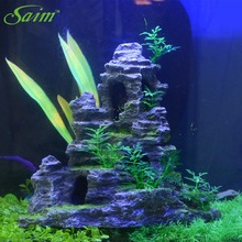 Hot Sell Aquarium Decoration For Fish Tank Resin Ornaments Decoration Aquarium Simulation Decorative Rockery  B0000030653